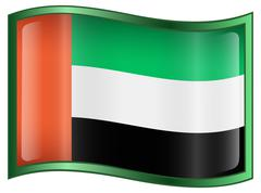 United arab emirates flag icon Stock Illustration