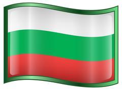 Bulgaria flag icon, isolated on white background. Stock Illustration