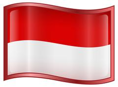 indonesia flag icon, isolated on white background. - stock illustration