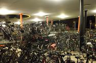 Bicycle parking in the netherlands Stock Photos