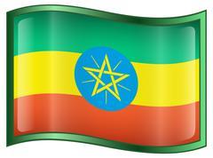 Ethiopia flag icon Stock Illustration