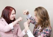Sisters fighting Stock Photos