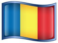 Romania flag icon Stock Illustration