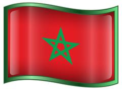 Stock Illustration of morocco flag icon