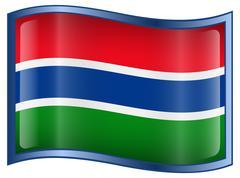 gambia flag icon. - stock illustration