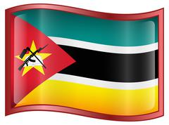 Mozambique flag icon. Stock Illustration