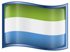 Sierra leone flag icon. Stock Illustration