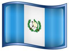 Guatemala flag icon. Stock Illustration