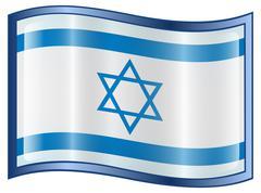 israeli flag icon. - stock illustration