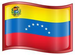 venezuela flag icon. - stock illustration