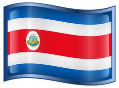Stock Illustration of costa rica flag icon.