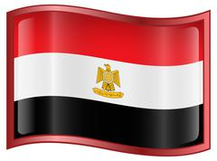 egypt flag icon. - stock illustration