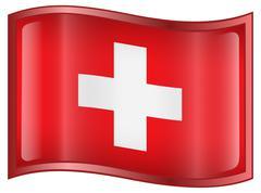 Switzerland flag icon. Stock Illustration