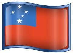 Stock Illustration of samoa flag icon