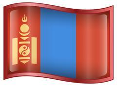 Stock Illustration of mongolia flag icon.