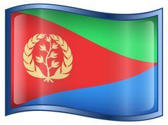 eritrea flag icon. - stock illustration