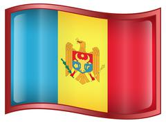 Moldova flag icon. Stock Illustration