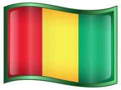 Stock Illustration of guinea flag icon.