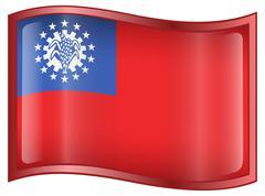 Stock Illustration of myanmar flag icon.
