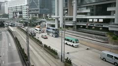 Lippo centre traffic road hong kong Stock Footage