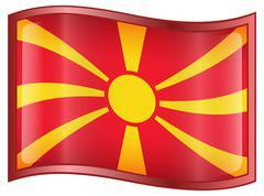 macedonia flag icon. - stock illustration
