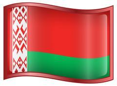 belarus flag icon. - stock illustration