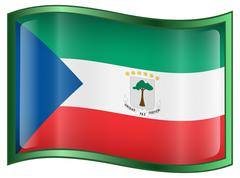 Stock Illustration of equatorial guinea flag icon.
