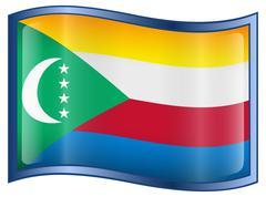 comoros flag icon. - stock illustration