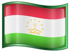 tajikistan flag icon. - stock illustration