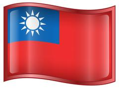Taiwan flag icon. Stock Illustration