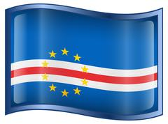 Cape verde flag icon. Stock Illustration