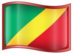 Stock Illustration of republic of the congo flag icon.