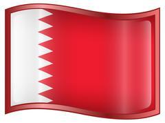 bahraini flag icon. - stock illustration