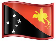 Papua new guinea flag icon. Stock Illustration