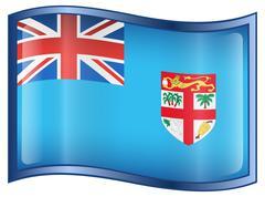 fiji flag icon. - stock illustration