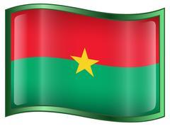 Burkina faso flag icon. Stock Illustration