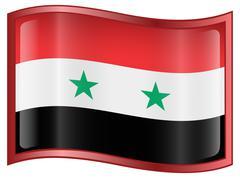 Stock Illustration of syrian flag icon.