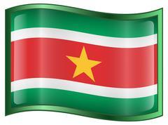 suriname flag icon. - stock illustration
