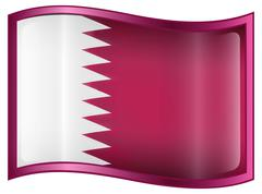 qatar flag icon. - stock illustration