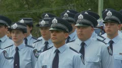 Queensland Police Graduation Ceromony (14) Stock Footage