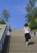 Quebec city woman Stock Photos