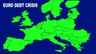 Stock Video Footage of Euro Debt Crisis Map - HD Animated