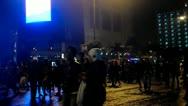 Crowd People Walking in The Night Stock Footage