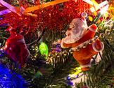 Christmas tree closeup Stock Photos