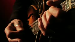 Mandolin Solo, Fast Picking Close Up HD Stock Footage