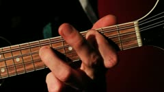 Mandolin Playing - Fretting, Close Up, Bluegrass HD Stock Footage