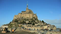 Mont Saint-Michel 01 Stock Footage