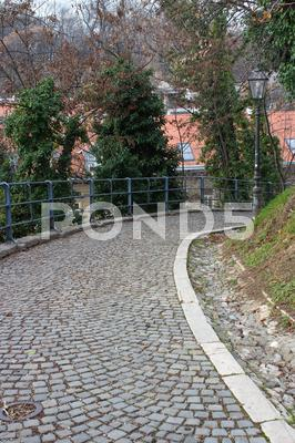Stock photo of strossmayer promenade, zagreb, croatia