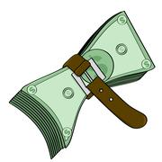 Tight money Stock Illustration