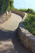 Walkway along a coast Stock Photos